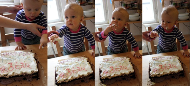 Tage och chokladtårtan